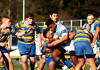 Action from the Hurricanes under-15 rugby tournament final between St Patrick's College Silverstream and St Peter's College (Auckland) at St Patrick's Silverstream College in Upper Hutt, Wellington, New Zealand on Saturday, 9 September 2017. Photo: Mike Moran / lintottphoto.co.nz