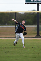 J.T. McArdle (12) of Montgomery, Alabama during the Baseball Factory All-America Pre-Season Rookie Tournament, powered by Under Armour, on January 13, 2018 at Lake Myrtle Sports Complex in Auburndale, Florida.  (Michael Johnson/Four Seam Images)