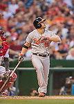 25 August 2016: Baltimore Orioles first baseman Chris Davis in action against the Washington Nationals at Nationals Park in Washington, DC. The Nationals blanked the Orioles 4-0 to salvage one game of their 4-game home and away series. Mandatory Credit: Ed Wolfstein Photo *** RAW (NEF) Image File Available ***