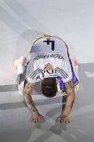 MADRID, ESPANHA, 25.05.2014 - COMEMORACAO REAL MADRID - Sergio Ramos do Real Madrid comemoram a conquista da Liga dos Campeões no Estadio Santiago Bernabeu em Madri capital da Espanha, na noite deste domingo, 25.  Após a vitória no ultimo sabado por 4 a 1, na prorrogação, diante do Atlético de Madrid, no estádio da Luz, em Lisboa, Portugal. O Real conquistou a taça da Liga pela 10ª vez. (Foto: Cesar Cebolla / Alfaqui / Brazil Photo Press).