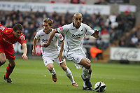Pictured: Darren Pratley of Swansea City<br /> Re: Coca Cola Championship, Swansea City Football Club v Watford at the Liberty Stadium, Swansea, south Wales 09 November 2008.<br /> Picture by Dimitrios Legakis Photography (Athena Picture Agency), Swansea, 07815441513