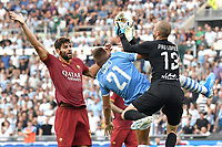 Federico Fazio of AS Roma , Sergej Milinkovic-Savic of SS Lazio , Pau Lopez of AS Roma <br /> Roma 01-09-2019 Stadio Olimpico <br /> Football Serie A 2019/2020 <br /> SS Lazio - AS Roma <br /> Photo Andrea Staccioli / Insidefoto