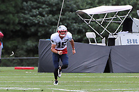 August 1, 2018: New England Patriots wide receiver Chris Hogan (15) runs a route at the New England Patriots training camp held on the practice fields at Gillette Stadium, in Foxborough, Massachusetts. Eric Canha/CSM