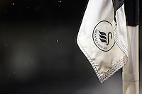 Pictured: A corner flag Tuesday 28 February 2017<br /> Re: Premier League International Cup, Swansea City U23 v Hertha Berlin II at at the Liberty Stadium, Swansea, UK