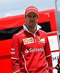 13.07.2017, Silverstone Circuit, Silverstone, FORMULA 1 BRITISH GRAND PRIX 2017, 13.07. - 16.07.2017<br /> , im Bild<br /> Sebastian Vettel (GER#5), Scuderia Ferrari<br /> <br /> Foto &copy; nordphoto / Bratic