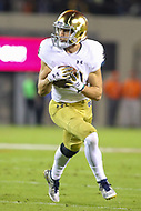 Blacksburg, VA - October 6, 2018: Notre Dame Fighting Irish wide receiver Chris Finke (10) catches a pass during the game between Notre Dame and VA Tech at  Lane Stadium in Blacksburg, VA.   (Photo by Elliott Brown/Media Images International)