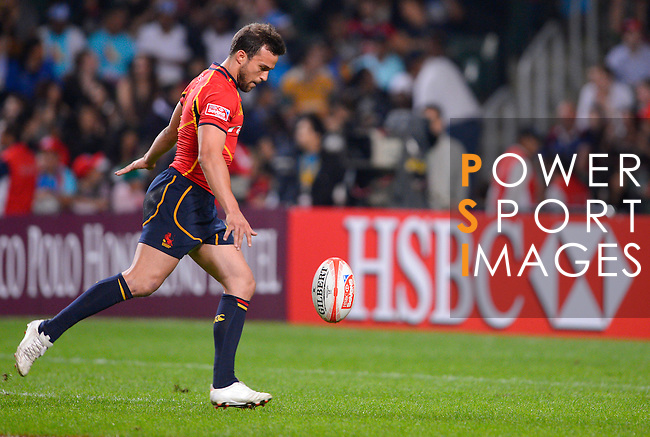 Spain vs Zimbabwe during Day 1 of the Cathay Pacific / HSBC Hong Kong Sevens 2012 at the Hong Kong Stadium in Hong Kong, China on 23rd March 2012. Photo © Victor Fraile  / The Power of Sport Images