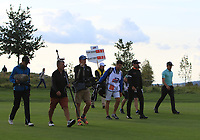 Lee Slattery (ENG) and Haydn Porteous (RSA) walking up the 18th fairway during Round 4 of the D+D Real Czech Masters at the Albatross Golf Resort, Prague, Czech Rep. 03/09/2017<br /> Picture: Golffile | Thos Caffrey<br /> <br /> <br /> All photo usage must carry mandatory copyright credit     (&copy; Golffile | Thos Caffrey)