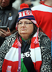 A Stoke City fan<br /> - Barclays Premier League - Stoke City vs Manchester United - Britannia Stadium - Stoke on Trent - England - 26th December 2015 - Pic Robin Parker/Sportimage