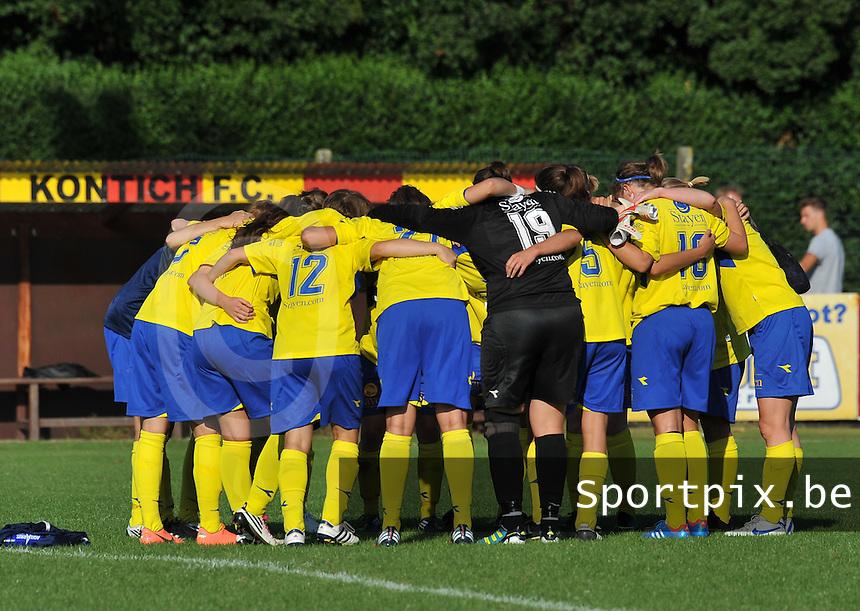 Beerschot Dames - STVV  Sint-Truiden VV Dames :.vreugde na de wedstrijd bij STVV.foto JOKE VUYLSTEKE / Vrouwenteam.be