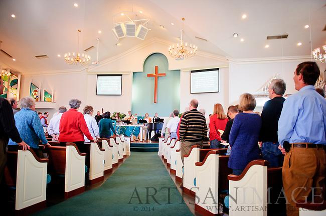 Music during a Westminster Presbyterian Church service on Sunday November 6, 2011. (Chris English/Artisan Image © 2011)