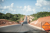 Altamira, Para State, Brazil. Building work on the access roads for the construction of the Belo Monte hydroelectric dam.