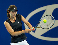 TSVETANA PIRONKOVA (BUL) against CAROLINE WOZNIACKI (DEN) in the Group stage of the Hopman Cup. ..04/01/2012, 4th January 2012, 04.01.2012..The HOPMAN CUP, Burswood Dome, Perth, Western Australia, Australia.@AMN IMAGES, Frey, Advantage Media Network, 30, Cleveland Street, London, W1T 4JD .Tel - +44 208 947 0100..email - mfrey@advantagemedianet.com..www.amnimages.photoshelter.com.