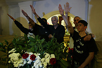 Predappio. Commemorazione nella tomba di Benito Mussolini in occasione dell'anniversario della sua morte