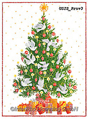 Ingrid, CHRISTMAS SYMBOLS, WEIHNACHTEN SYMBOLE, NAVIDAD SÍMBOLOS,decorated tree, paintings+++++,USISPROV3,#xx#