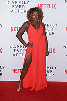 """AJ Johnson<br /> at the """"Nappily Ever After"""" Special Screening, Harmony Gold Theater, Los Angeles, CA 09-20-18<br /> Copyright DailyCeleb.com.  All Rights Reserved."""