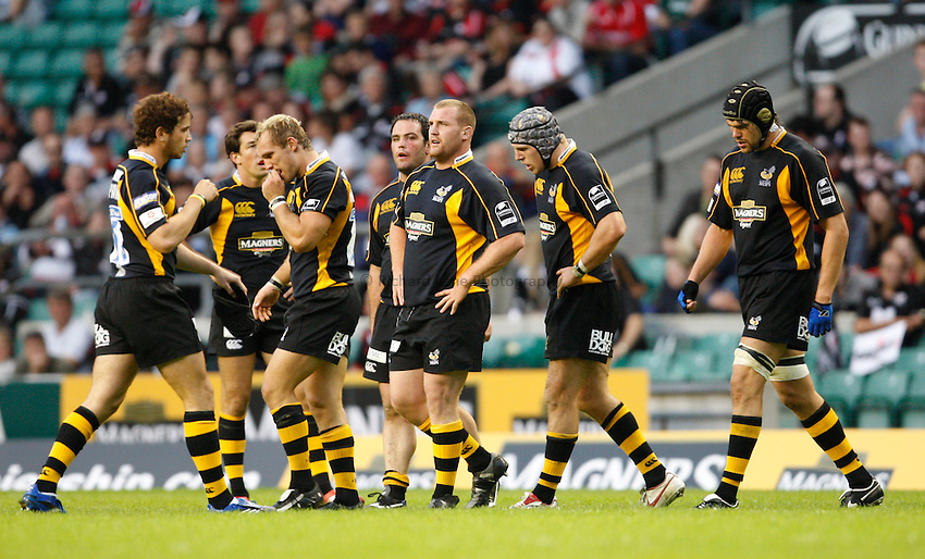 Photo: Richard Lane/Richard Lane Photography..London Wasps v Saracens. Guinness Premiership. 15/09/2007. .Wasps players.