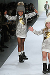 Models walk runway in outfits from the Hurley Kids Fall 2017 collection, during the Rookie USA Fall 2017 kidswear fashion show, presented by Haddad Brands at NYFW: The Shows Fall 2017 at Skylight Clarkson Square on February 15, 2017.