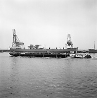 Juni 1963.  Scheepswerf Mercantile Marine Engineering in Antwerpen.