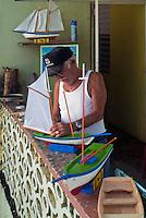 Culebra, Antique Model Boat, Maker, Puerto Rico, USA