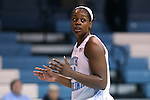 30 October 2013: North Carolina's Xylina McDaniel. The University of North Carolina Tar Heels played the Carson-Newman College Eagles in a women's college basketball exhibition game at Carmichael Arena in Chapel Hill, North Carolina. UNC won the preseason game 111-50.