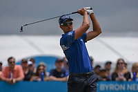 Henrik Stenson (SWE) watches his tee shot on 2 during round 1 of the AT&amp;T Byron Nelson, Trinity Forest Golf Club, Dallas, Texas, USA. 5/9/2019.<br /> Picture: Golffile | Ken Murray<br /> <br /> <br /> All photo usage must carry mandatory copyright credit (&copy; Golffile | Ken Murray)