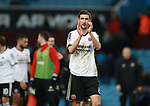 Chris Basham of Sheffield Utd applauds the fans during the Championship match at Villa Park Stadium, Birmingham. Picture date 23rd December 2017. Picture credit should read: Simon Bellis/Sportimage