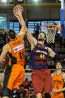 Montakit Fuenlabrada's Ivan Paunic  and FC Barcelona Lassa's Ante Tomic during the match of Endesa ACB League between Fuenlabrada Montakit and FC Barcelona Lassa at Fernando Martin Stadium in fuelnabrada,  Madrid, Spain. October 30, 2016. (ALTERPHOTOS/Rodrigo Jimenez) /NORTEPHOTO.COM