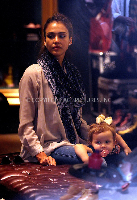 WWW.ACEPIXS.COM<br /> <br /> September 10 2013, New York City<br /> <br /> Actress Jessica Alba goes shopping in Soho with her daughter Haven on September 10 2013 in New York City<br /> <br /> By Line: Zelig Shaul/ACE Pictures<br /> <br /> <br /> ACE Pictures, Inc.<br /> tel: 646 769 0430<br /> Email: info@acepixs.com<br /> www.acepixs.com