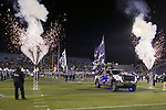 The Nevada team takes the field before an NCAA college football game against New Mexico in Reno, Nev., Saturday, Nov. 2, 2019. (AP Photo/Tom R. Smedes)