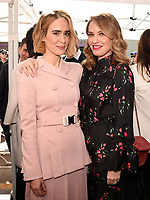 HOLLYWOOD, CALIFORNIA - DECEMBER 4: (L-R) Sarah Paulson and Leslie Grossman attend a ceremony honoring Ryan Murphy with a star on The Hollywood Walk of Fame on December 4, 2018 in Hollywood, California. (Photo by Frank Micelotta/Fox/PictureGroup)