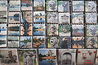 """4""""x4"""" - Sets of 4 - Tumbled Marble JDN Photography """"Art On Stone"""""""