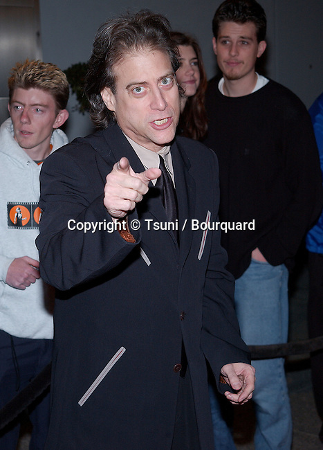 Richard Lewis  arriving at the television critics association closing party with the Warner Bros show at El Fornaio Restaurant in Pasadena, Los Angeles. January 15, 2002.           -            LewisRichard_01.jpg