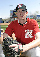 April 18, 2004:  Pitcher Brandon McCarthy of the Kannapolis Intimidators, Low-A South Atlantic League affiliate of the Chicago White Sox, during a game at Classic Park in Eastlake, OH.  Photo by:  Mike Janes/Four Seam Images