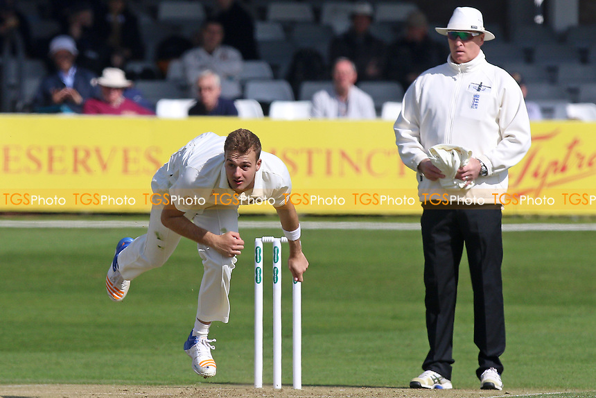 Xavier Owen in bowling action for Durham during Essex CCC vs Durham MCCU, English MCC University Match Cricket at The Cloudfm County Ground on 2nd April 2017