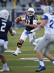 Nevada's Cody Fajardo (17) looks for a open player while playing Air Force during the first half of an NCAA football game in Reno, Nev., on Saturday, Sept. 28, 2013. Fajardo returned today after sitting out the previous game against Hawaii due to a knee injury. (AP Photo/Cathleen Allison)