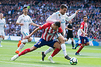 Real Madrid Mateo Kovacic and Atletico de Madrid Vitolo Machin during La Liga match between Real Madrid and Atletico de Madrid at Santiago Bernabeu Stadium in Madrid, Spain. April 08, 2018. (ALTERPHOTOS/Borja B.Hojas) /NortePhoto NORTEPHOTOMEXICO