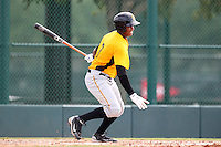GCL Pirates outfielder Willy Garcia #3 at bat during a game against the GCL Braves at Disney Wide World of Sports on June 25, 2011 in Kissimmee, Florida.  The Pirates defeated the Braves 5-4 in ten innings.  (Mike Janes/Four Seam Images)