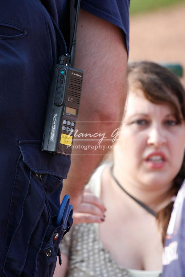An EMT helping a victim