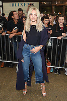Louisa Johnson<br /> arrives for the TopShop UNIQUE catwalk show as part of London Fashion Week SS17, Old Spitalfields Market, London<br /> <br /> <br /> &copy;Ash Knotek  D3155  17/09/2016