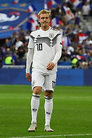 Enttäuschung bei Julian Brandt (Deutschland Germany) - 16.10.2018: Frankreich vs. Deutschland, 4. Spieltag UEFA Nations League, Stade de France, DISCLAIMER: DFB regulations prohibit any use of photographs as image sequences and/or quasi-video.