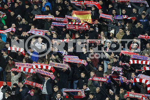 Atletico de Madrid's supporters during La Liga match.January 24,2015. (ALTERPHOTOS/Acero) /NortePhoto<br />
