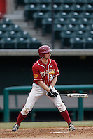 Kevin Swick #34 of the USC Trojans during a inter squad game at Dedeaux Field on November 16, 2012 in Los Angeles, California. (Larry Goren/Four Seam Images)