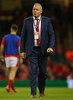 1st February 2020; Millennium Stadium, Cardiff, Glamorgan, Wales; International Rugby, Six Nations Rugby, Wales versus Italy; Wayne Pivac coach of Wales
