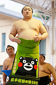 April 17th 2017, Tokyo, Japan;  Sadanoumi, Sumo : Annual sumo tournament dedicated to the Yasukuni Shrine in Tokyo Japan.