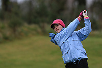 Linda Ilavska (Slovakia) on the 1st tee during Round 1 of the Irish Girls U18 Open Stroke Play Championship at Roganstown Golf &amp; Country Club, Dublin, Ireland. 05/04/19 <br /> Picture:  Thos Caffrey / www.golffile.ie