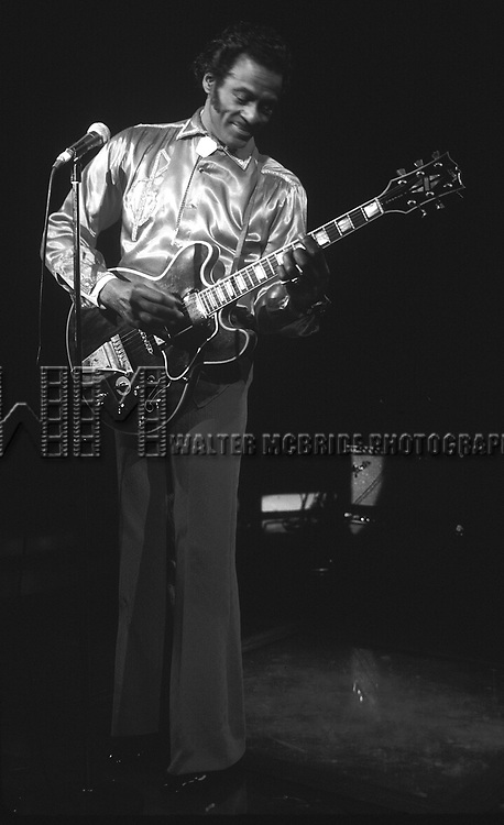 Chuck Berry performing at Red Parrot in New York City in 1983.
