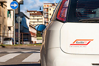 Milano, GuidaMi, servizio di car sharing di ATM (Azienda Trasporti Milanesi) --- Milan, GuidaMi, car sharing of ATM (public transport company in Milan)