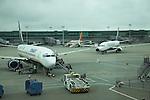 Ryanair planes, Stanstead airport, Essex, England Stanstead airport, Essex, England, UK