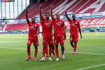 Jubel 1:0 durch Robin Quaison (FSV Mainz 05 #07) Ridle Baku (FSV Mainz 05 #34), Jeremiah St. Juste (FSV Mainz 05 #04), Moussa Niakhate / Niakhaté (FSV Mainz 05 #19)<br /> <br /> <br /> Sport: nphgm001: Fussball: 1. Bundesliga: Saison 19/20: 33. Spieltag: 1. FSV Mainz 05 vs SV Werder Bremen 20.06.2020<br /> <br /> Foto: gumzmedia/nordphoto/POOL <br /> <br /> DFL regulations prohibit any use of photographs as image sequences and/or quasi-video.<br /> EDITORIAL USE ONLY<br /> National and international News-Agencies OUT.